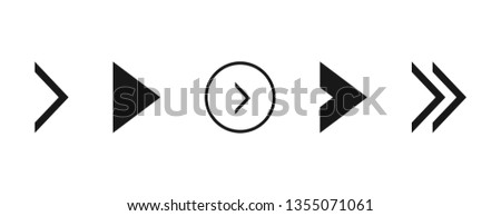Super set different arrows mark. Flat style vector illustration. #1355071061