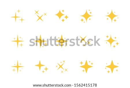 Super set of stars sparkle icon. Bright firework, decoration twinkle, shiny flash. Glowing light effect stars and bursts collection. Vector graphic design.