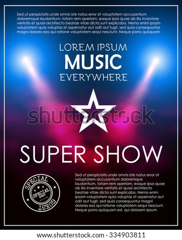 super show poster template with