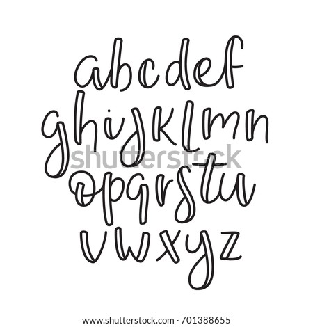 Super Simple ABC English Line Alphabet Thin Outline Lowercase Typographic Typeface Font Script Modern Calligraphy Lettering Style