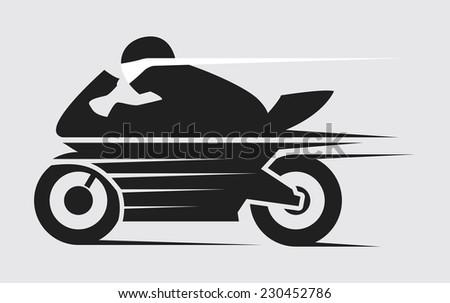 super speed motorcycle in black