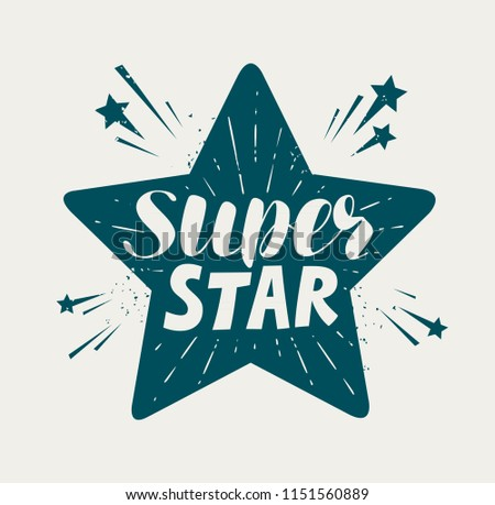 super star  typographic design