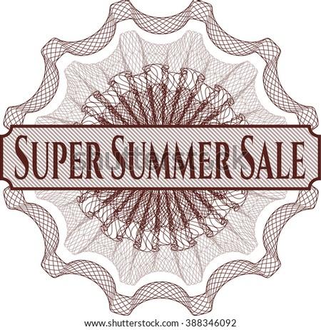 Super Summer Sale rosette or money style emblem