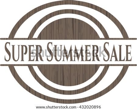 Super Summer Sale vintage wooden emblem
