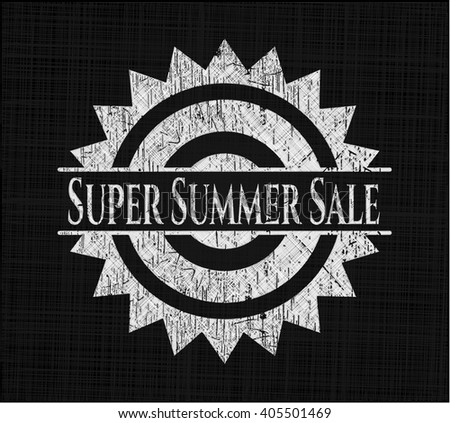 Super Summer Sale written on a chalkboard