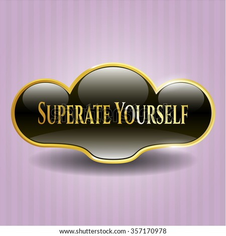 Superate Yourself gold shiny badge