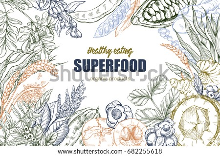 superfood  realistic sketch