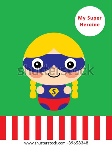 Stock Photo supergirl greeting