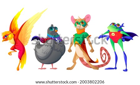 superhero animals cartoon