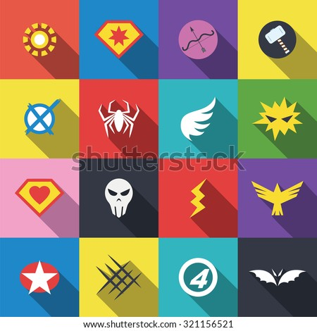 superhero badge logo  vector