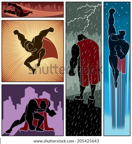 superhero banners 3  set of 5