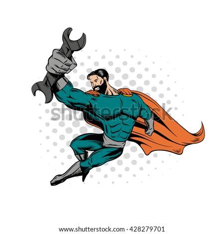 superhero bearded hipster