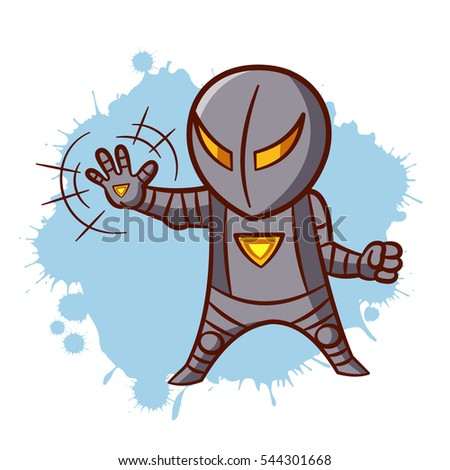 superhero boy iron sticker