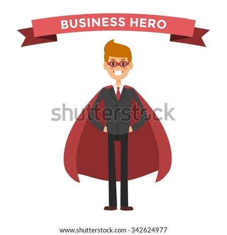 superhero business man vector