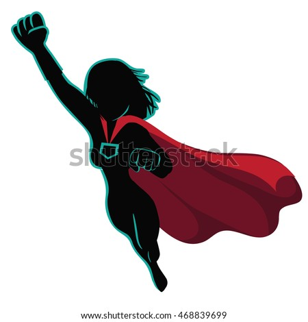 superhero cartoon woman