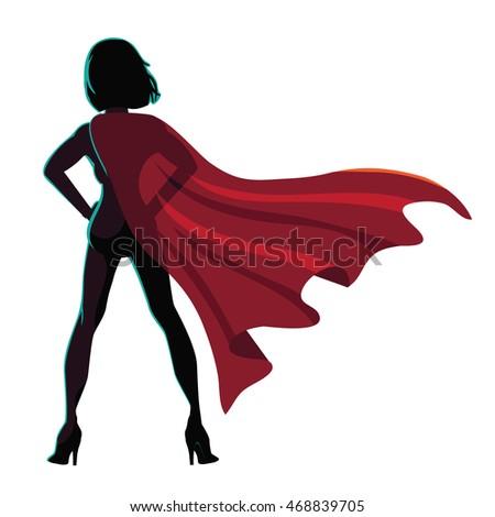 superhero cartoon woman