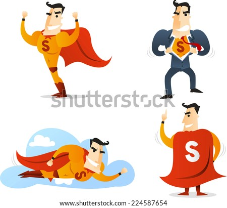 superhero character in four