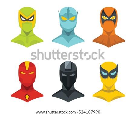 superhero concept set in flat