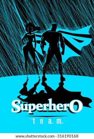 superhero couple  male and