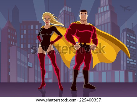 superhero couple 2  male and