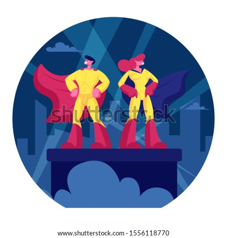 superhero couple man and woman