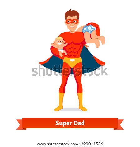 superhero dad concept father