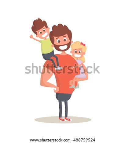 superhero dad concept strong