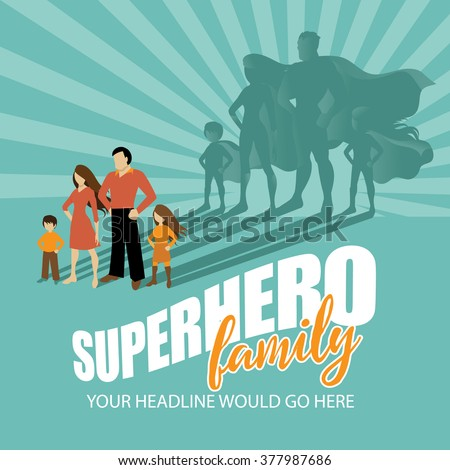 superhero family burst