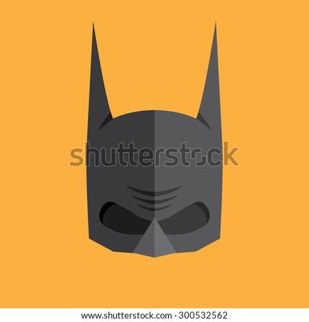 superhero flat style icon