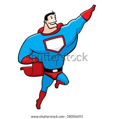 Superhero Flying - stock vector