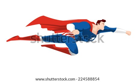 superhero flying ready to work