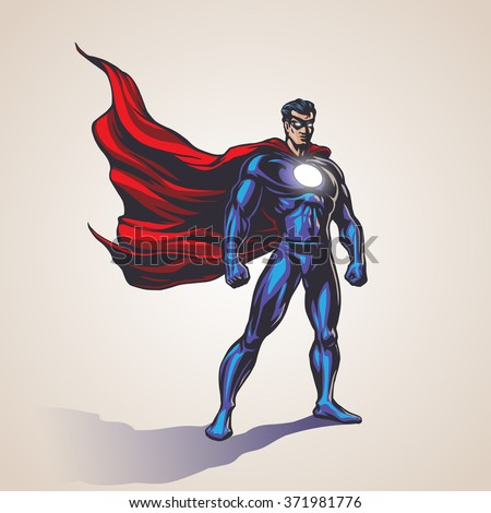 superhero illustration