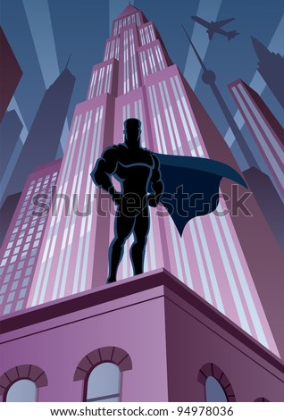 superhero in city  superhero