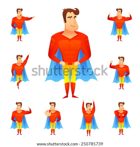 superhero in red costume and