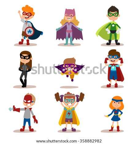 superhero kids boys and girls