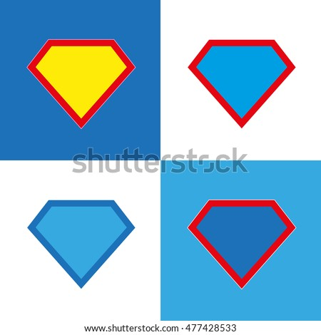superhero logo template blank