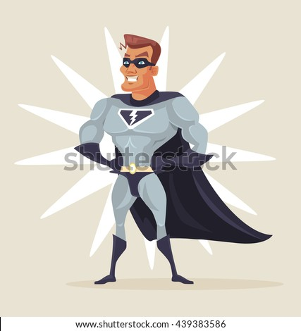 superhero man vector flat