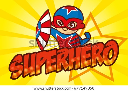 superhero red star character