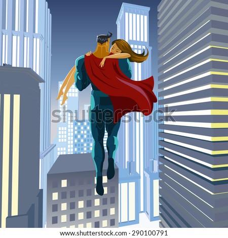 superhero rescues his beloved