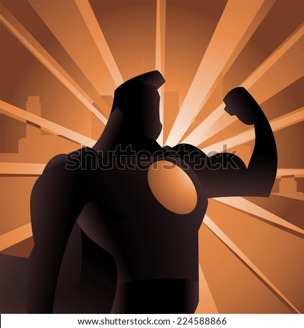 superhero shadow shining