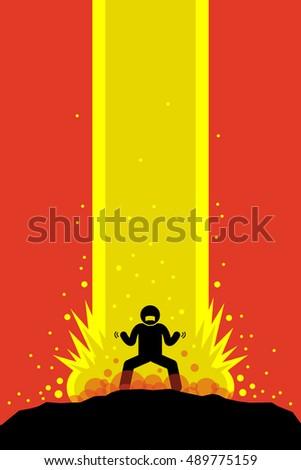 superhero superhuman charging