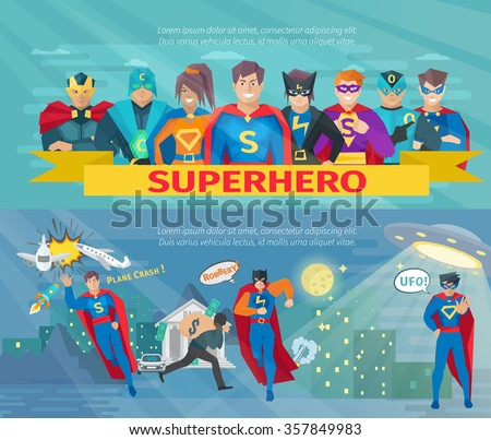 superhero team horizontal