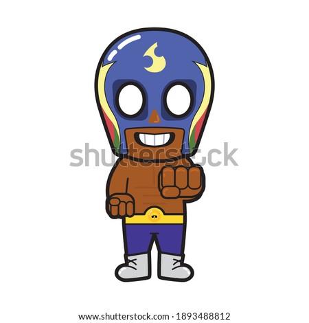 Superhero Vector Fanart of Brawl Stars Caricature Illustration Standing on a Blank Background - JAKARTA, INDONESIA - September 4, 2020
