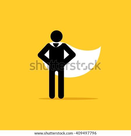 Superhero vector icon