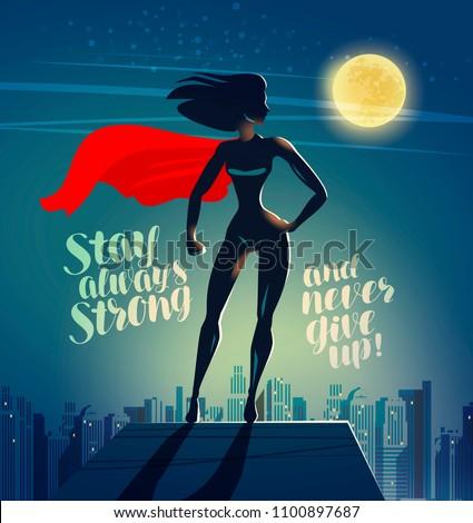 superhero woman standing on the
