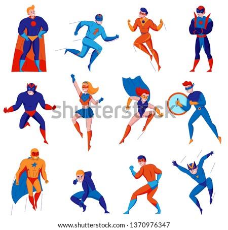 superheroes cartoon comic strip