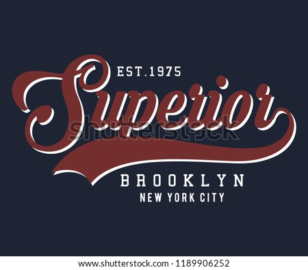 superior brooklyn new york vintage for t-shirt print design