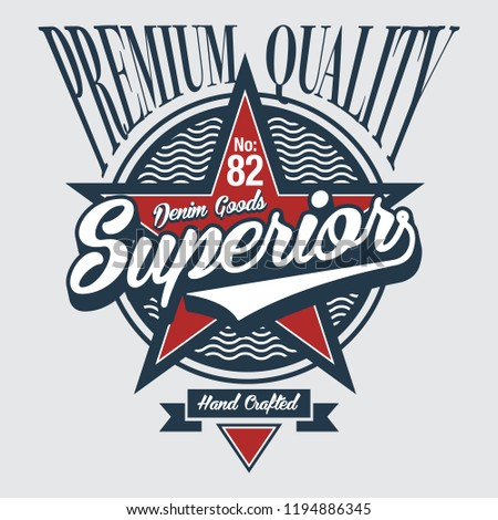 Superior lettering design for apparels placement print for T-Shirt / Denim style