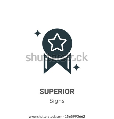 Superior vector icon on white background. Flat vector superior icon symbol sign from modern signs collection for mobile concept and web apps design. Foto d'archivio ©
