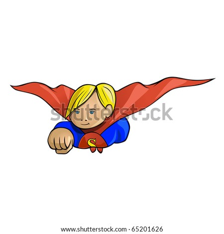 superkid vector illustration